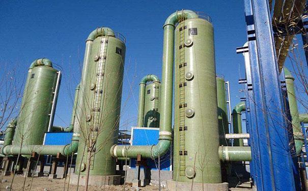 保山钢厂玻璃钢脱硫塔